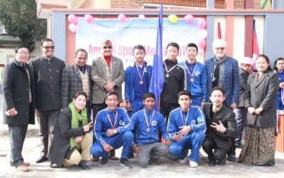 Prize distribution of Annual sports