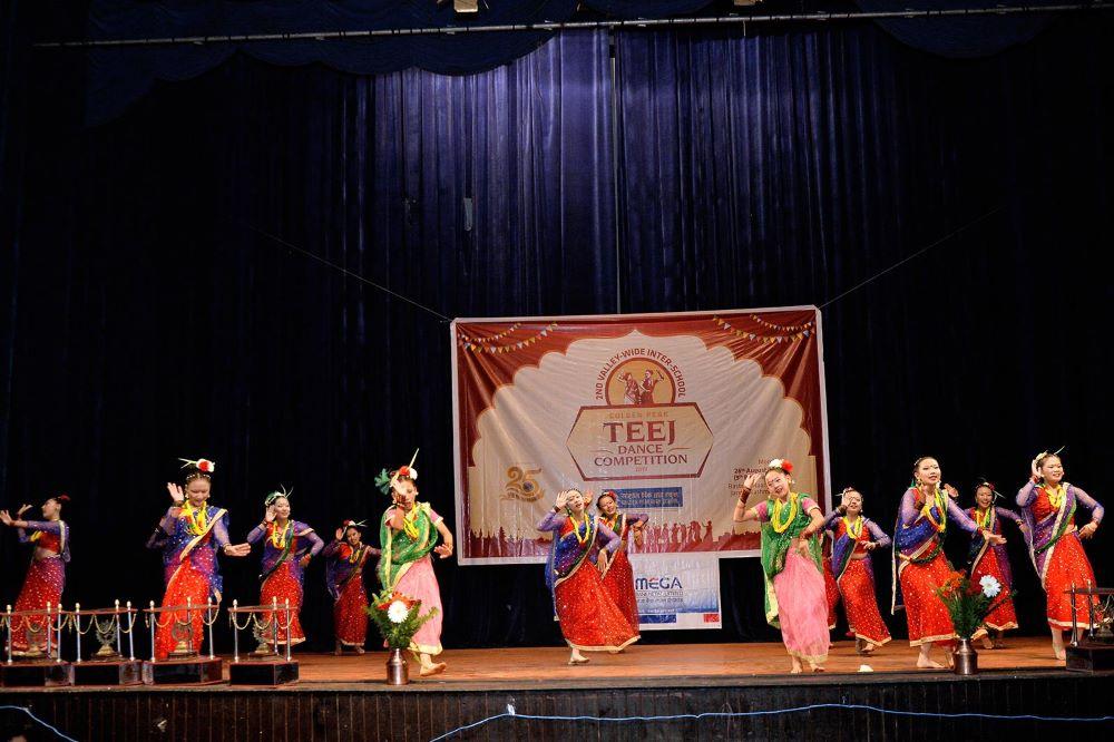 Participants of Teej Dance Competition
