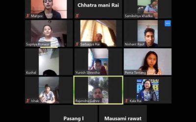 Online Virtual Class by GOLDEN PEAK HIGH SCHOOL from Zoom Cloud Meeting App