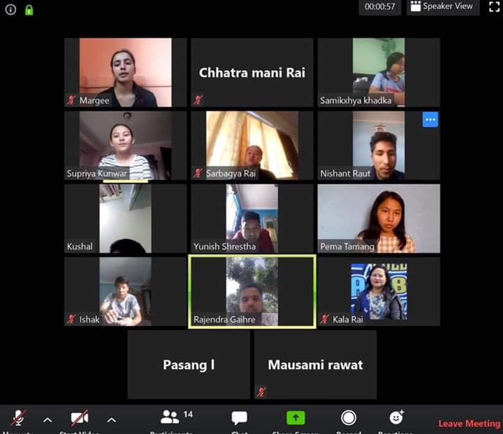 Online Virtual Class by GOLDEN PEAK HIGH SCHOOL from Zoom Cloud Meeting App