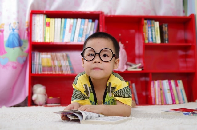 Innocent Kid with glasses